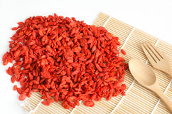 Dried goji berries, gouqi, goji, berry, Lycium barbarum, organic Royalty Free Stock Image