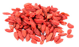 Dried Goji Berries isolated on white Royalty Free Stock Images