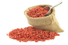 Dried goji berries(Lycium Barbarum - Wolfberry) Royalty Free Stock Photos