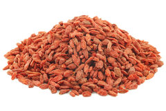 Dried goji berries(Lycium Barbarum - Wolfberry) Stock Photo