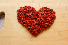 Dried goji berries Royalty Free Stock Photos