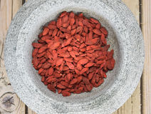 Dried goji berries Royalty Free Stock Photo