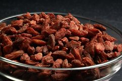 Dried goji berries on the table Stock Photo