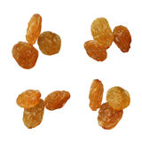 Dried golden raisins isolated on white background, close up Royalty Free Stock Photo