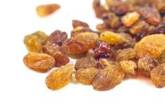 Dried grape raisins on a white background Royalty Free Stock Photo