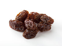 Dried grapes. On white background Royalty Free Stock Photos