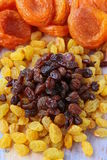Dried grapes raisins are two types Royalty Free Stock Photos