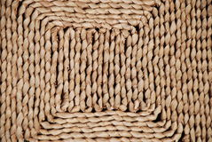 Dried Grass Mat. Background texture of a dried grass mat Royalty Free Stock Images