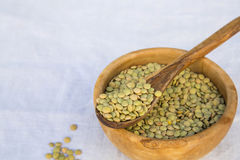 Dried green lentils Royalty Free Stock Image