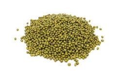 Dried green mung beans Stock Image