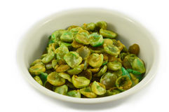 Dried green pea in cup Stock Image