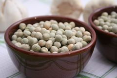 Dried green peas Stock Image