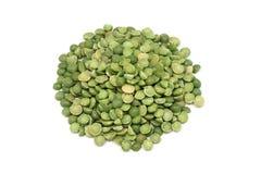 Dried green peas Stock Photo