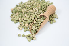 Dried green peas Stock Photo