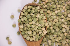 Dried green peas Stock Images
