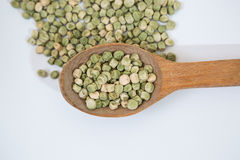 Dried green peas Royalty Free Stock Photos