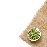 Dried  Green Split Peas in a bowl Royalty Free Stock Photo