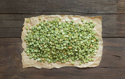 Dried  Green Split Peas Stock Images