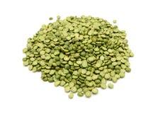 Dried green split peas Stock Image