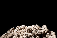 Dried ground. Isolated on back background Stock Image