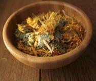 Dried herbal calendula Stock Photos