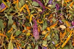 Dried herbal tea leaves Royalty Free Stock Photos