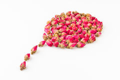 Dried herbal tea rose flower buds Royalty Free Stock Photo