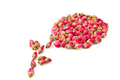 Dried herbal tea rose flower buds Royalty Free Stock Photos