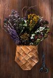 Dried Herbs, Flowers And Berries For Herbal Tea. Stock Photography