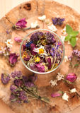 Dried Herbs and flowers Stock Photo