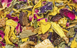 Dried Herbs and Flowers Texture royalty free stock photos
