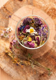 Dried Herbs and flowers Royalty Free Stock Photos