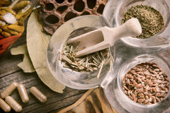Dried herbs Royalty Free Stock Photography