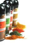 Dried herbs and spices. Some dried herbs and spices royalty free stock photography