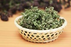Dried herbs wild thyme and oregano Royalty Free Stock Photos