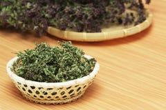 Dried herbs wild thyme and oregano Stock Photos