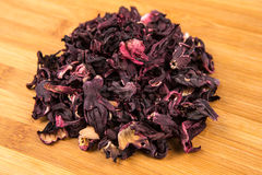 Dried hibiscus flower petals Stock Photography