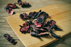 Dried hibiscus flowers Royalty Free Stock Photo