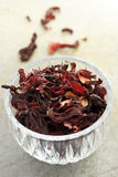 Dried hibiscus tea Stock Photography
