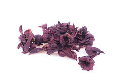 Dried Hibiscus Tea Isolated Royalty Free Stock Photography