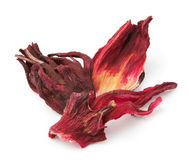 Dried hibiscus tea petals Stock Photography