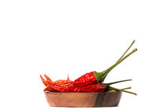Dried Hot Chili Peppers Isolated Royalty Free Stock Photos