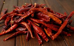 Dried hot chilies Royalty Free Stock Photo