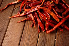 Dried hot chilies Royalty Free Stock Image