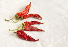 Dried hot chilli Stock Photos