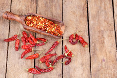 Dried hot chilly Stock Photo