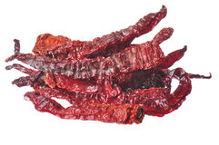 Dried Hot Peppers Royalty Free Stock Image