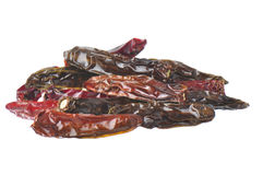 Dried Hot Peppers Stock Photography