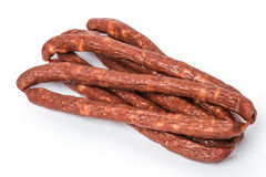 Dried Hungarian Sausage Royalty Free Stock Images