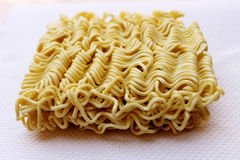 Dried instant noodles Royalty Free Stock Images